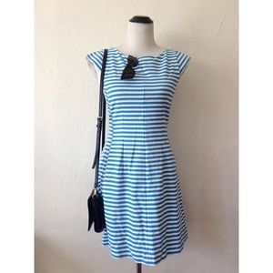 LILLY PULITZER blue striped cap sleeve dress